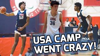 Josh Christopher & Jalen Green BATTLE At USA Camp! 7 FOOT Chet Holmgren Shows Off Guard Skills! 🍿