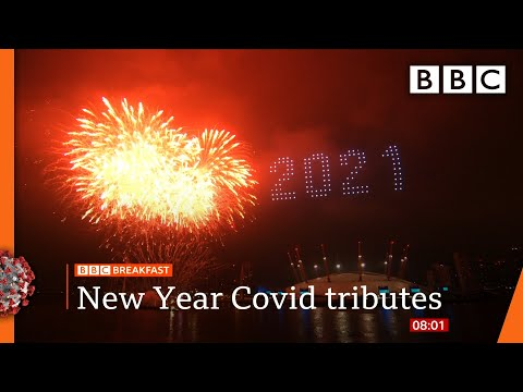 New Year's Eve: UK sees in 2021 with fireworks and light show 🔴 @BBC News live - BBC