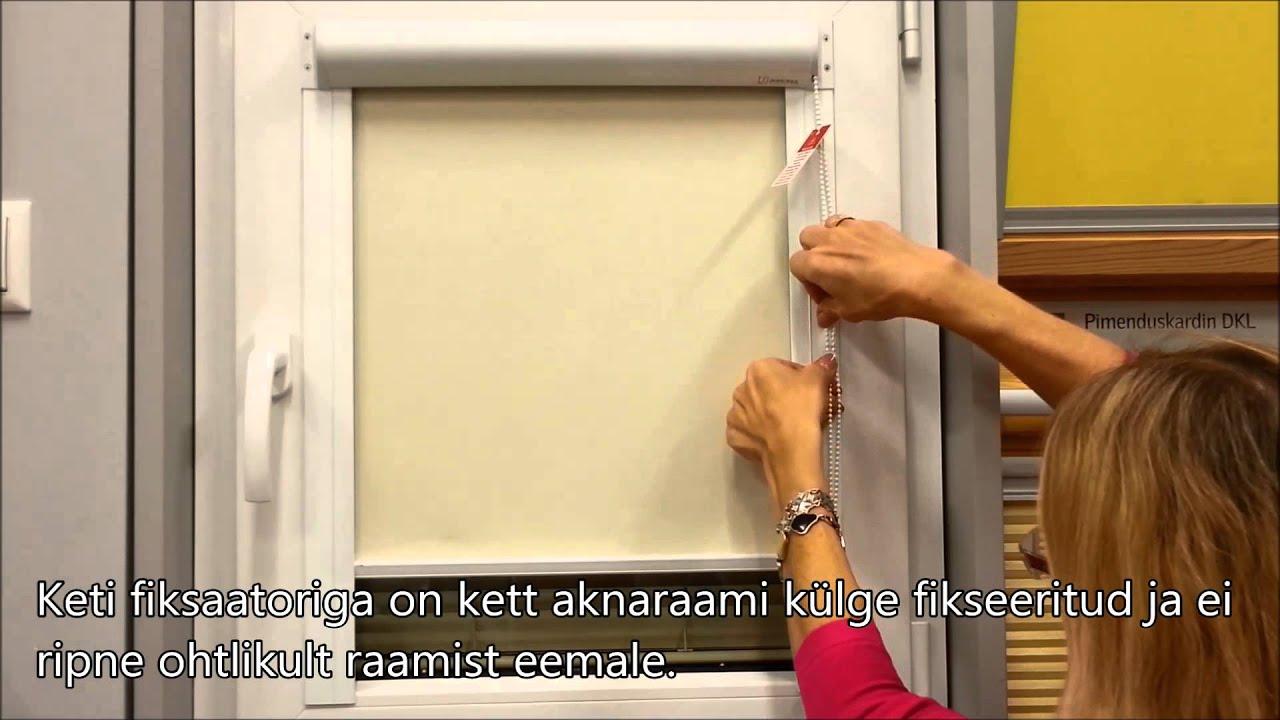 Sunoreki väikelaste turvalisusdetail plastaknaruloo keti fiksaator - kasutusjuhend