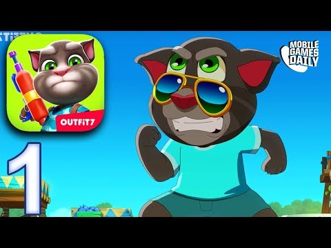 TALKING TOM CAMP Gameplay Part 1 - Getting Started (iOS Android)