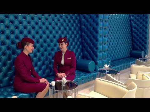 Qatar Airways Premium Lounge in Paris - Grand Opening