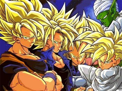 Goku, Piccolo, Future Trunks, Gohan and Piccolo