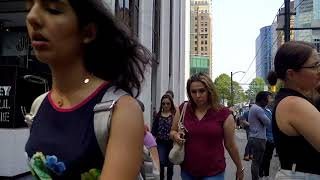 Downtown Vancouver Canada Tour - Walking Around Financial/Business District - Lunch Hour