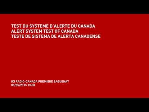 Emergency system alert of Canada / Système d