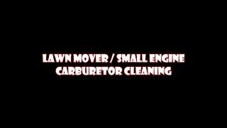 craftsman 675 lawn mower carburetor cleaning