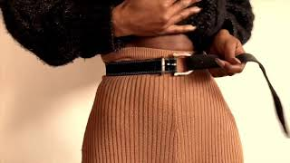5 different ways on how to secure a belt on loopless clothing