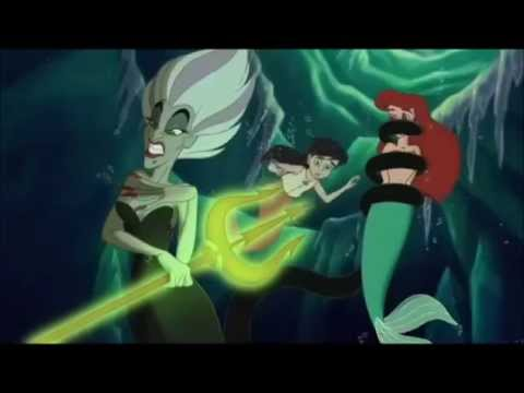 That Little mermaid naked and tied excited too
