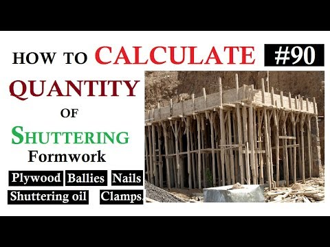 How to calculate the Quantity of Shuttering, Plywood