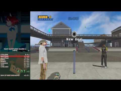 Tony Hawk's Pro Skater 4 Speedrun in 42:24