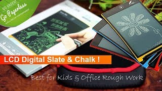 LCD Digital Slate & Chalk for Kids & Office Rough Work  ! Save Paper & Go Green