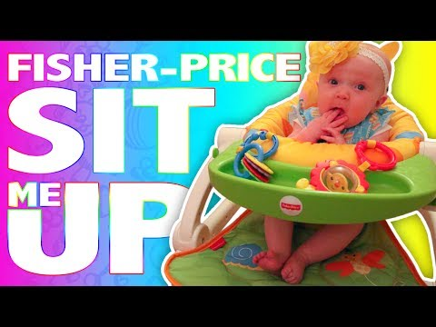RYLEE'S FIRST REVIEW! Baby Reviews Fisher-Price Sit Me Up | Toy Review Video