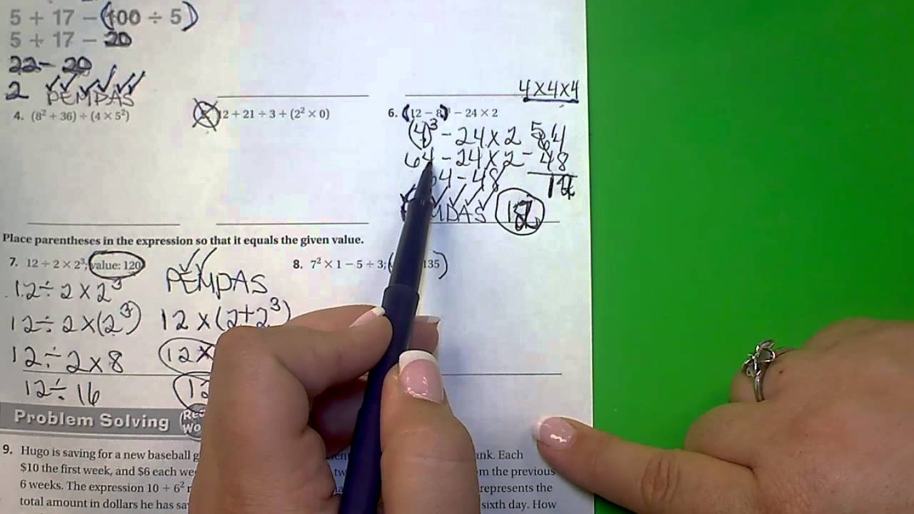 small resolution of 6th Go Math! Lesson 7.2 - YouTube
