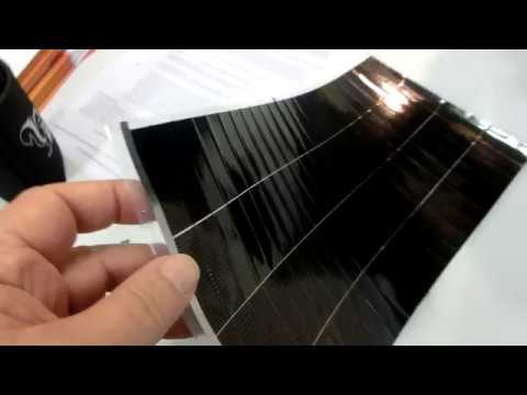 30% Efficiency, Thin solar panels 1500W per Kg for Facebook