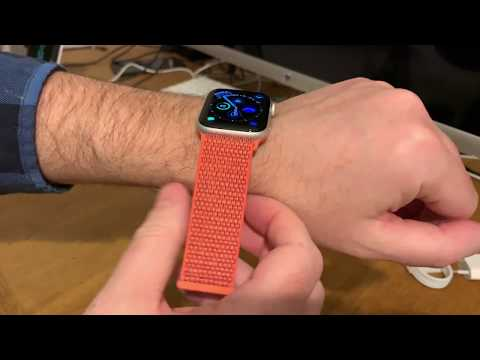 Apple Nectarine Sportloop Watchband for the Apple Watch unboxing