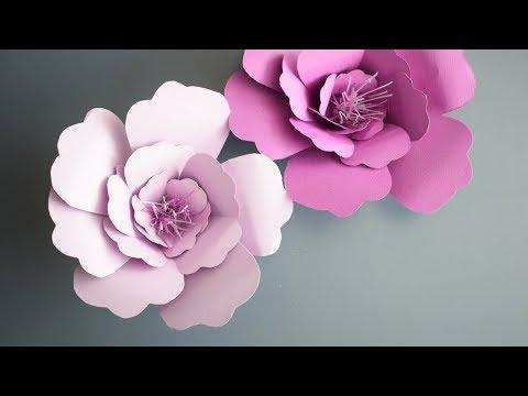 Как делать объемные цветы