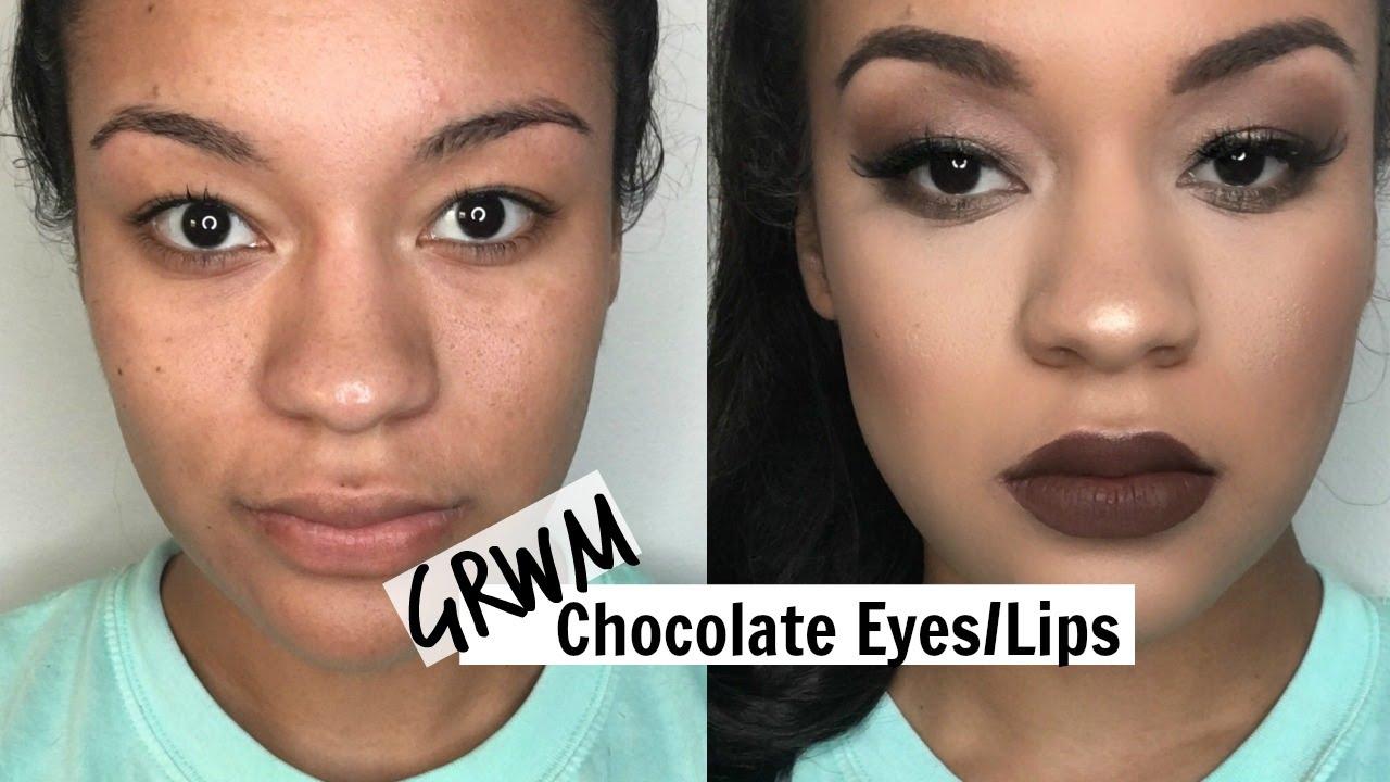 Dark Brown Matte Lipstick hd image