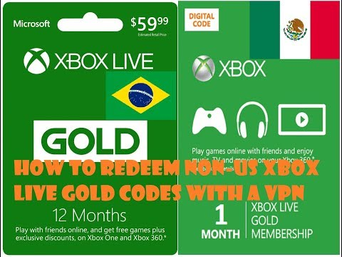 How To Redeem Region-Locked Non-US Xbox Live Gold Codes With A VPN