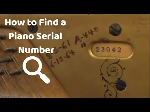 How To Find A Serial Number On A Piano