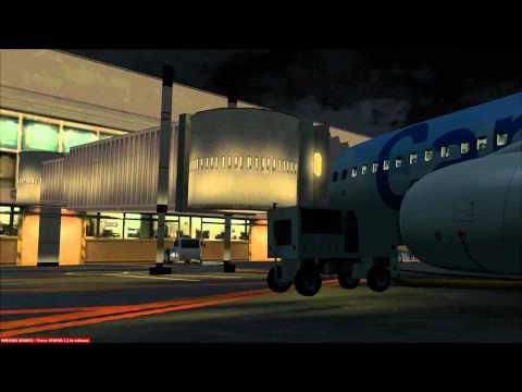 FSX PMDG B737-800WL Westjet Airline Flight to Edmonton International Airport HD.