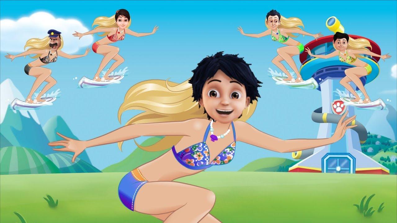 Shiva Antv Transform Into Barbie Surfing Finger Family Song