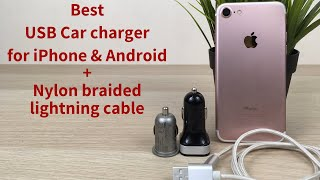 Best usb car charger for iPhone | Mivi Dual Usb Smart Car Charger