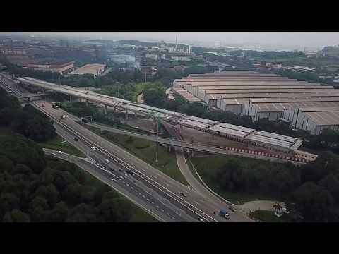 WCE -  Bukit Raja, Klang | West Coast Expressway | Drone footage 21 April 2018