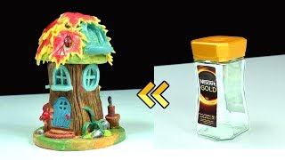 DIY Log Fairy House Using Jar | Paper Clay Tutorial