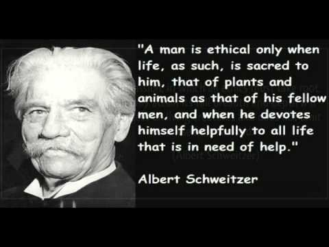 Albert Schweitzer -  O podstatě mravnosti