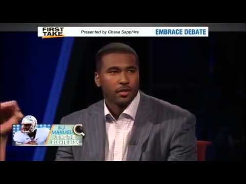 EJ Manuel Talks About Being Ready To Prove Doubters Wrong     ESPN First Take