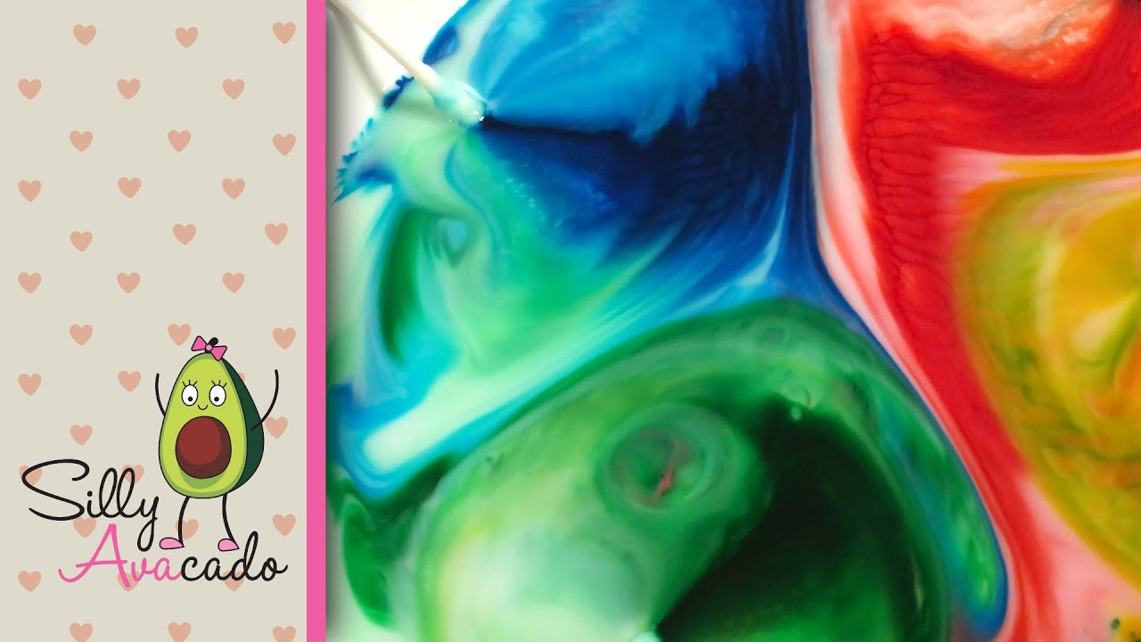 ❤ Rainbow Color Changing Milk Experiment w/ Food Coloring & Dish ...