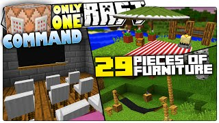 Minecraft | 5 Custom Commands That Add 29 New Furniture In Minecraft | Only One Command Block