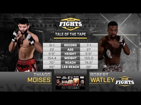 Fight of the Week: Thiago Moises Faces Robert Watley For the Lightweight Title