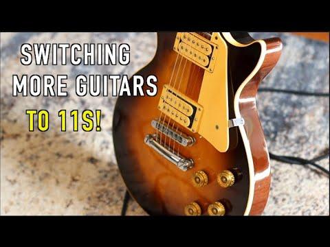 Switching more Guitars To 11 Gauge Strings!