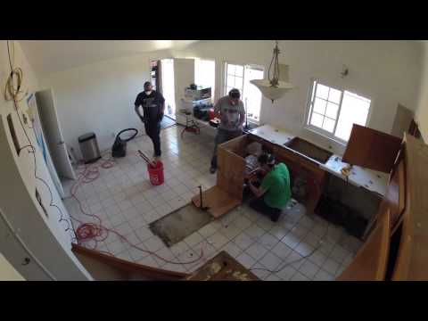 Kitchen Remodeling - Day 2 of 17 - Demolition of Cabinets and Floor