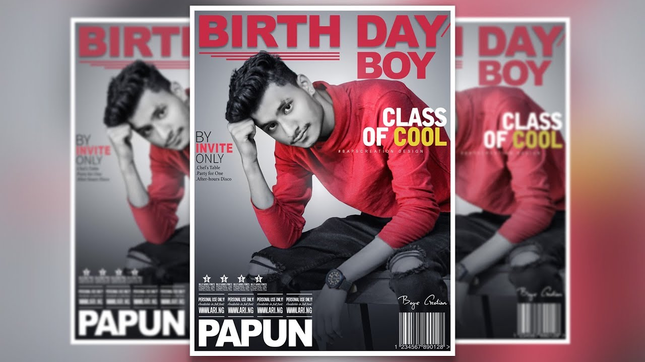 Photoshop Cc Tutorials Magazine Cover Page Design Birthday Special Baps Creation
