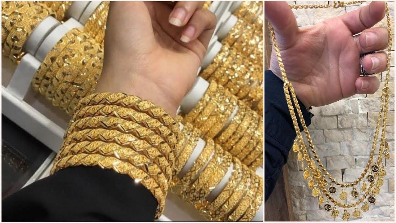 عرض بضاعة جديدة من الاساور الذهب والبتوت والعقود والتراجى مقدمة من  صياغة ومجوهرات احمد