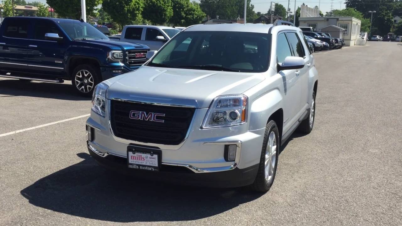 2017 gmc terrain sle 2 fwd silver oshawa on stock 170002 youtube. Black Bedroom Furniture Sets. Home Design Ideas