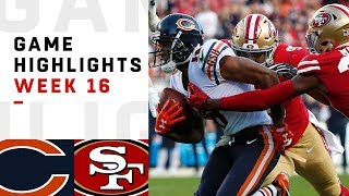 Bears vs. 49ers Week 16 Highlights | NFL 2018