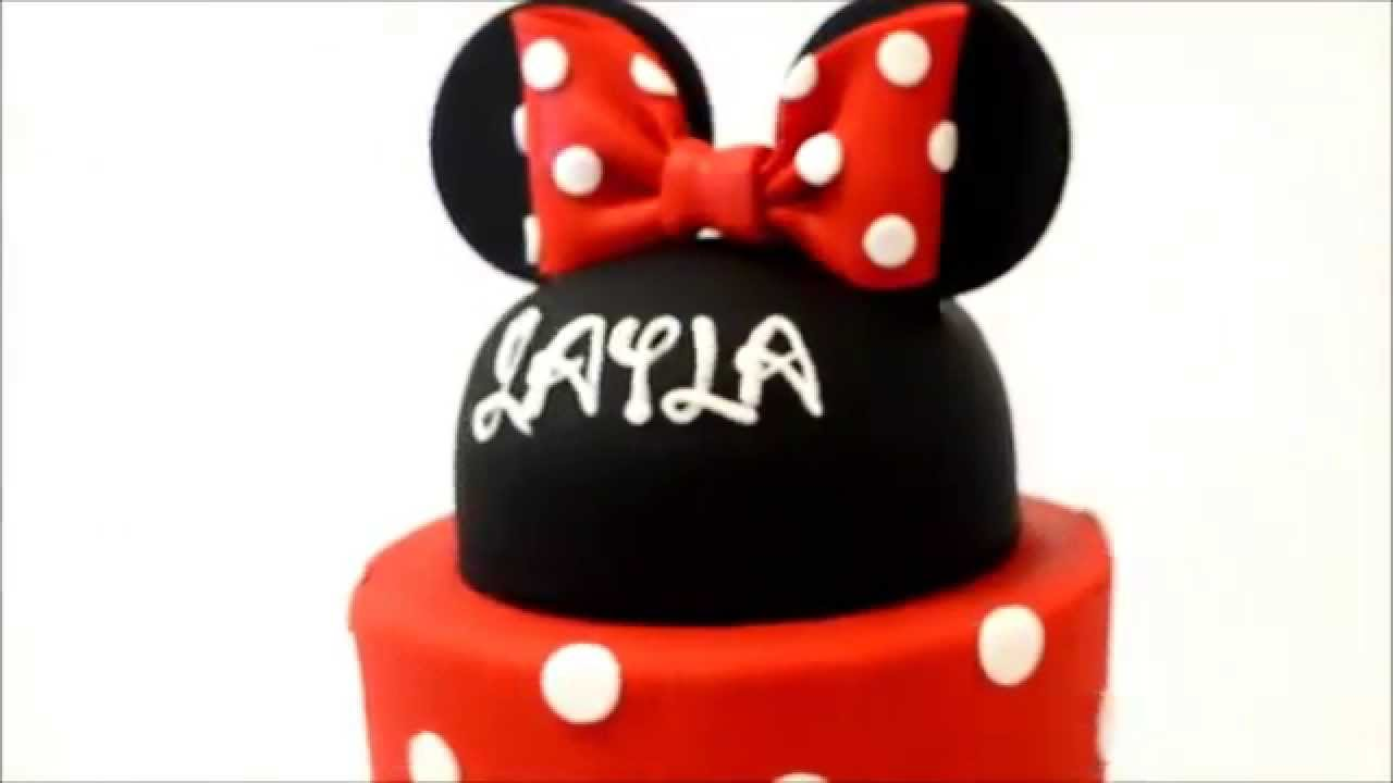 Mini Mouse Cake Example two tiers YouTube