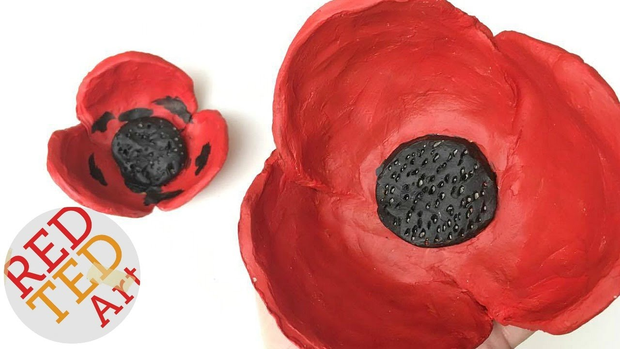 Easy Poppy Bowl Diy Diy Gift Ideas Remembrance Day Activities