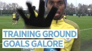 Epic goals, saves & zorbing! | man city training