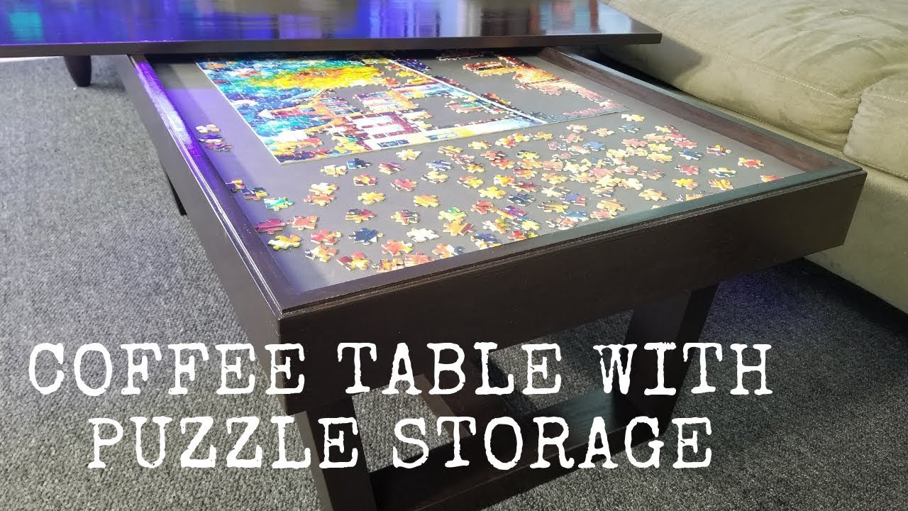 Coffee Table With Puzzle Storage Youtube