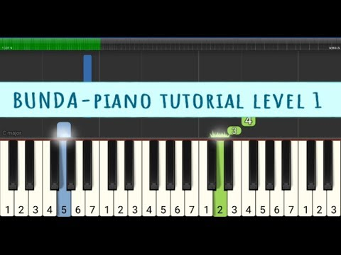 Bunda Tutorial Piano Level 1 Pemula - Melly Goeslaw - Not Angka Melodi