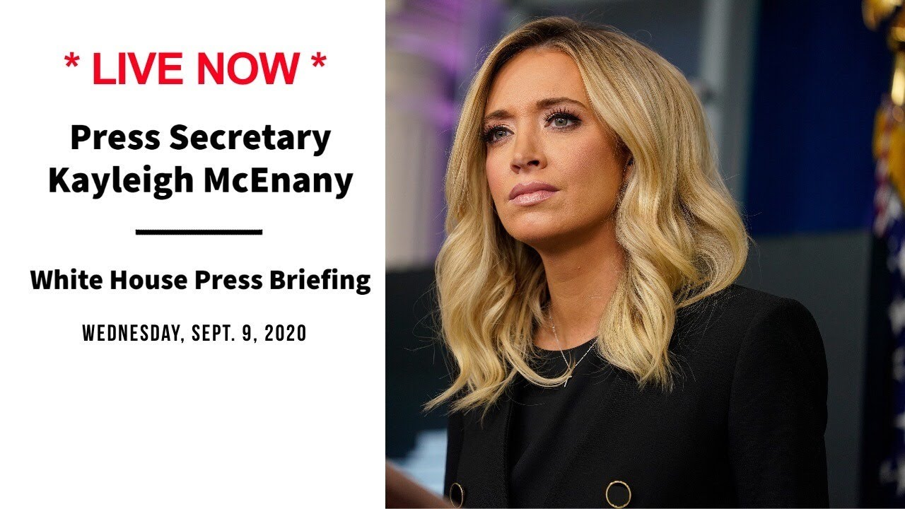 Kayleigh Mcenany Holds White House Press Briefing Wednesday Sept 9 2020 Cbn News Youtube