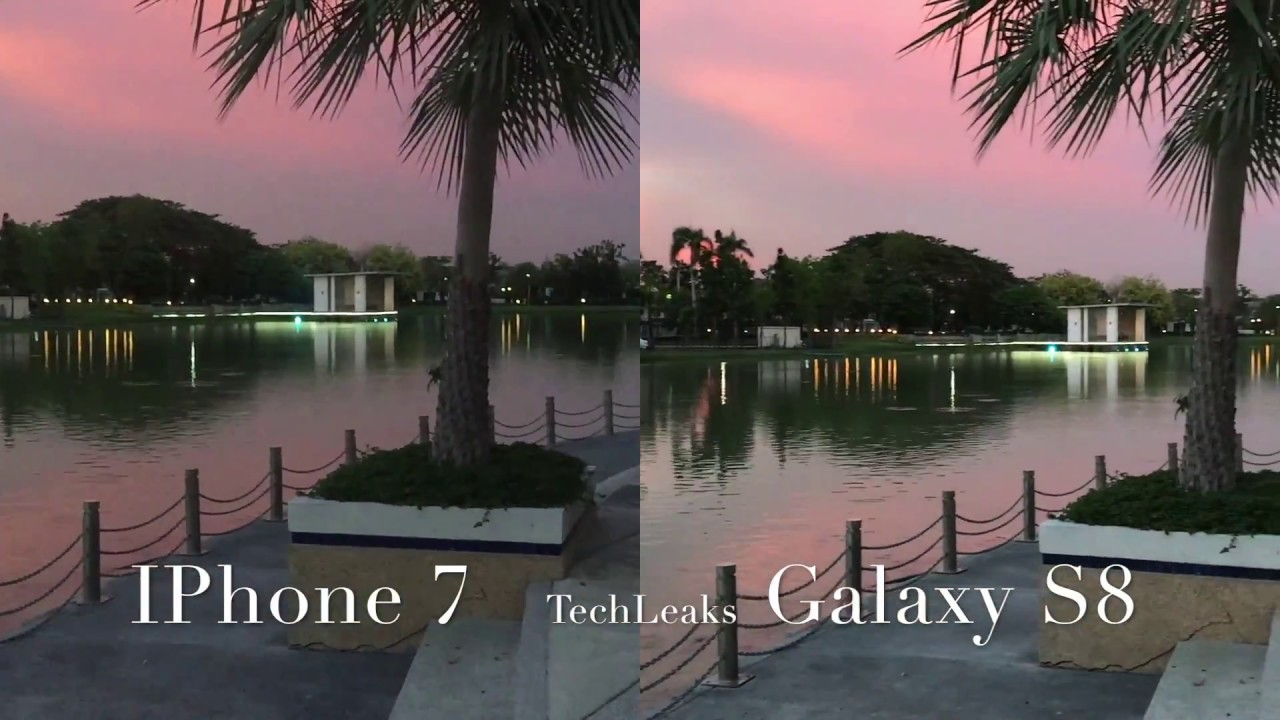 samsung s8 vs iphone 7 camera