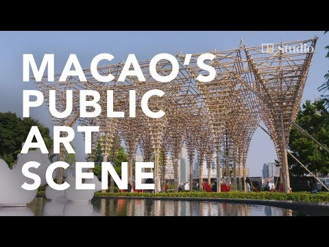 Macao artists elevate the art of bamboo scaffolding to public art