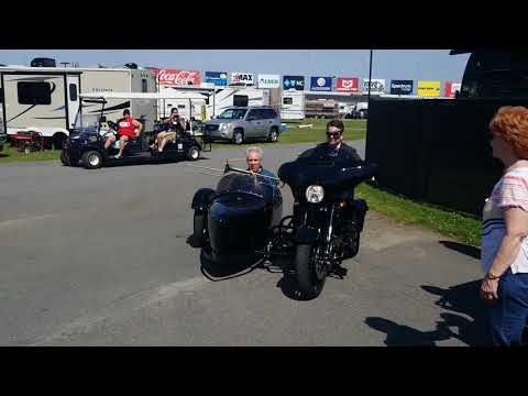Eric Hunter - Jeff Gordon With Daryl Waltrip Riding In A Harley Sidecar
