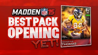 Madden 15 Ultimate Team Ep.4 - My Best Pack Opening Ever On Mut 15 | Madden 15 Veteran Pack Opening