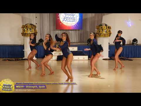 WSS19 - Stravagirls Pro Open Ladies Team Shines Salsa World Champions