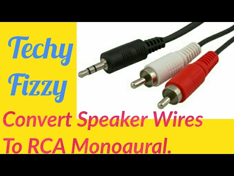 Convert Speaker Wires to RCA Monoaural - YouTube